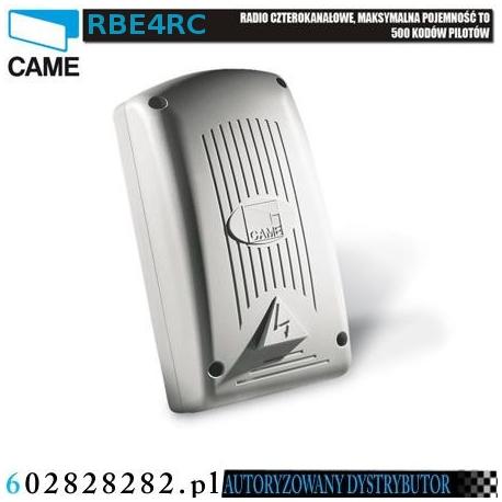 CAME RBE4RC radio uniwersalne czterokanałowe stosowane do sterowania obcymi urządzeniami