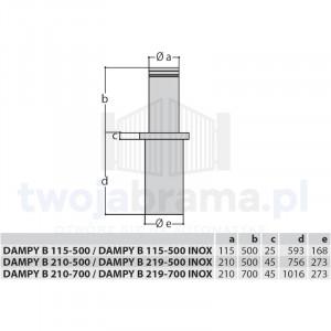 BFT DAMPY B 219/500 l - Zapora drogowa