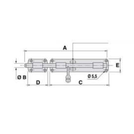 HI MOTIONS Rygiel poziomy 245x16x180mm