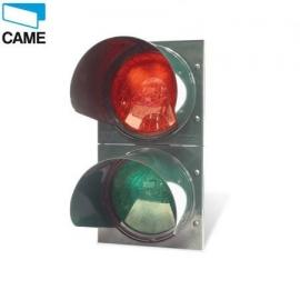CAME SEMAFOR LED dwukolorowy z uchwytem montażowym fi 124mm